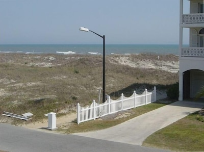 View From the Covered Deck...  Beach Access is Only 16 Steps Away...
