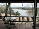 View of lake from deck of cabin. Many awesome views including awesome sunsets.