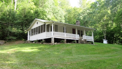 Your mountain Farmhouse provides an oasis of quiet and nature.