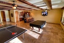 Game Room featuring Billiards, Ping Pong, Wet Bar, overlooking Colorado River