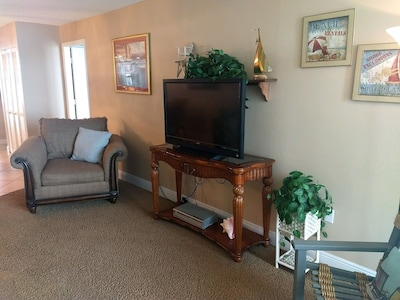 Large Flat Screen TV in Living Room