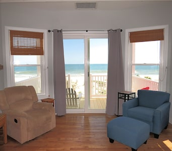 Enjoy a BEACH VIEW from inside the living room!