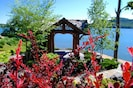 The lakeside Gazebo provides an ideal vantage point to watch the kids swimming!