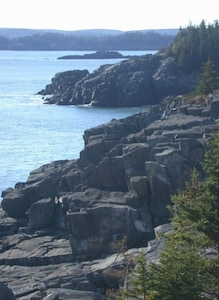 View of coastline at Sealedges