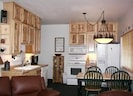 Hickory kitchen with appliances