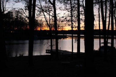 Sunset from the porch