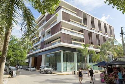 Rue commerçante Quinta Avenida, Playa del Carmen, Quintana Roo, Mexique