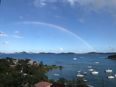 Carribbean rainbows off the balcony.