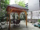 Private courtyard garden with shade for perfect for hot summer days