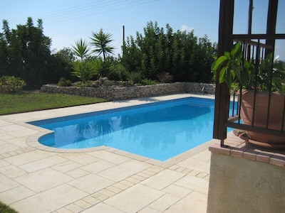 A charming villa set in beautiful gardens with panoramic sea views. 50% off wk 3
