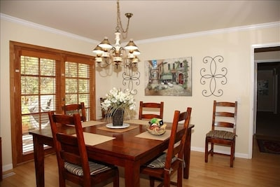 Dining with Service for 8.   French Doors to Deck for Outdoor Dining!