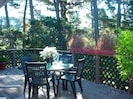 Private Deck with Outdoor Seating, BBQ overlooking the Carmel Woods.  No Fog!