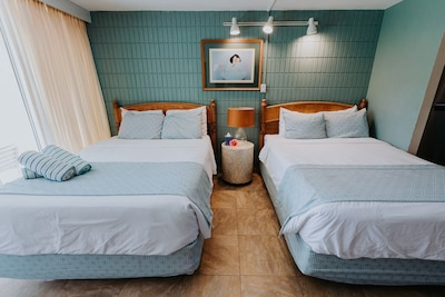 TWO real Queen size beds for the price of one!