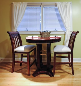 Bistro dining table.  Extra seating available
