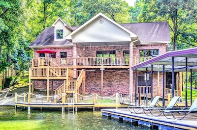 The back of the house shows just how close we are to the lake.