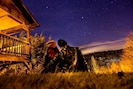 Star Gazing beside the cabin.  Our renters took this amazing photo and sent it to us!!