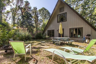 """""""The Nauset Teepee"""" backyard dining lounging/firepit"""