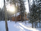 Great snow in Island Park - you can snowmobile from the cabin to the trails!