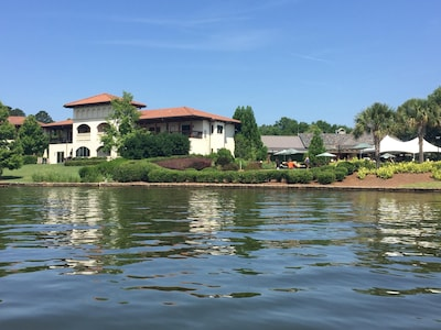 Water view of the villa