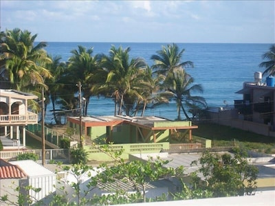 Ocean view from the roof deck one block from Sandy Beach