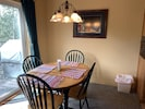 Dining area extra chairs available and counter seating available also BBQ on pat