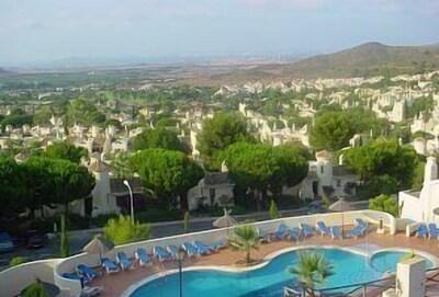 View from patio of Las Palmitas 5  (Pool, Resort, Mar Menor, Mediterranean)