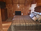 Master Bedroom with King Bed and Fireplace