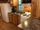 Full kitchen including dishwasher and ice maker