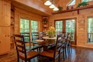 Custom dining room table built by famed local Craftsman Gil Graham that seats 10