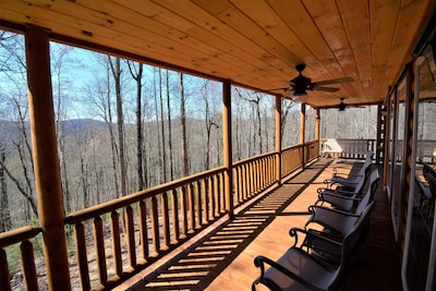 Main Floor Covered Back Deck with Large New Weber Grille