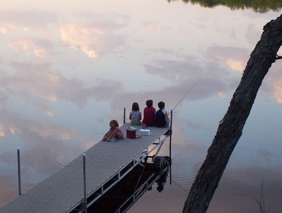 Peace be still...children on the dock.