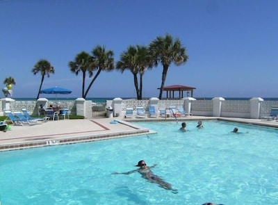 One of two luxurious swimming pools on the Gulf!