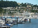 The Dart Marina, Kingswear and Steam Railway, as seen from Serenity's terrace.