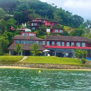 Mansão,Praia Particular,Heliponto,Cais para barcos + de 100 pés,sauna, Academia.