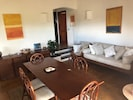 Lounge, dining table entance to bedrooms