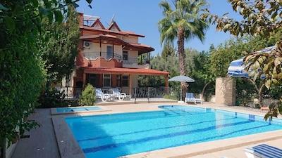The villa from the garden