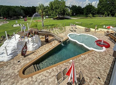 The world's only ice cream cone pool- The hot tub is the cherry on top!