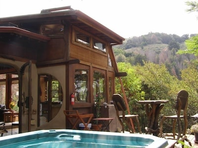 Home and hot tub