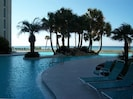 6500 Sq FT lagoon style pool with beautiful views of the Gulf