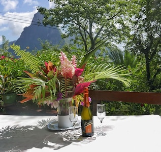 Enjoy the spectacular views of the Pitons and ocean at Treehouse I.
