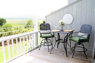 Sit on the deck, enjoy the sea breeze, and view the marsh and the ocean!