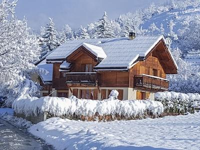 Petite chute de neige en mars.