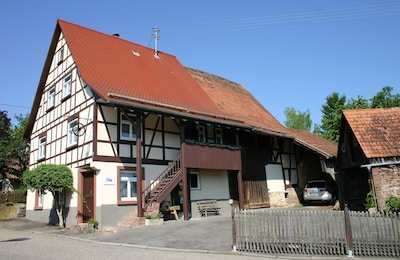 Unser frisch renoviertes und denkmalgeschütztes Fachwerkhaus...