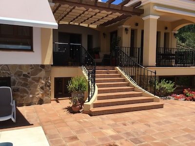 Steps leading up to the Villa