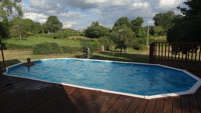 Pool area and view of garden