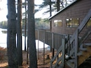 Cottage side view showing proximity to gorgeous Packard Pond.