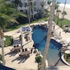 """#1 """"Canadian"""" pool - not heated. View from condo terrace."""