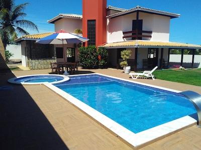 Casa de Praia 4/4 - Hidro - Cascata - Cervejeira - Vista Mar - Aldeias Jacuípe