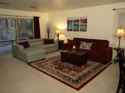 Spacious,  inviting  living room
