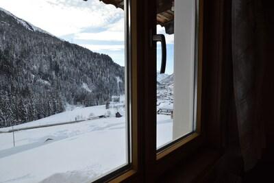 Uitzicht van vakantiehuis [winter]